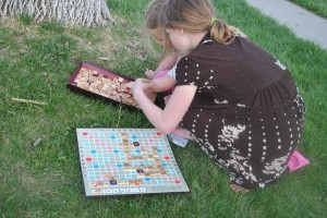 Family Fun Scrabble Game