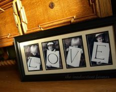 Gorgeous LOVE Photo gift for Mothers Day, Fathers Day, grandparents day. . .