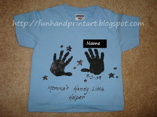 Hand-print T-Shirt Craft For Mothers Day DIY Tutorial