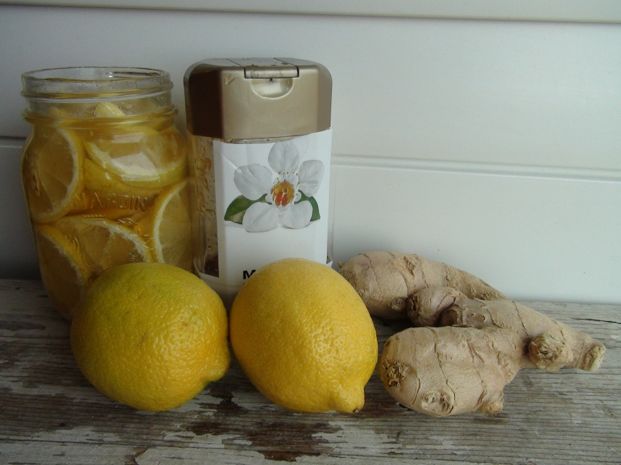 Yummy cough syrup with lemons and honey