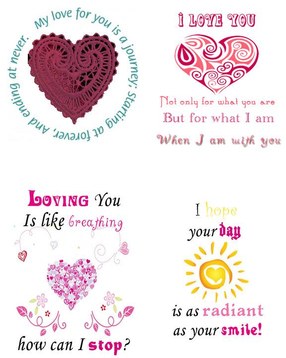 Love Quote6 4 Romantic Quote Notes Love Valentine