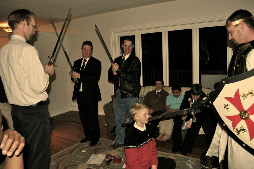 Being knighted at our Armor of God night