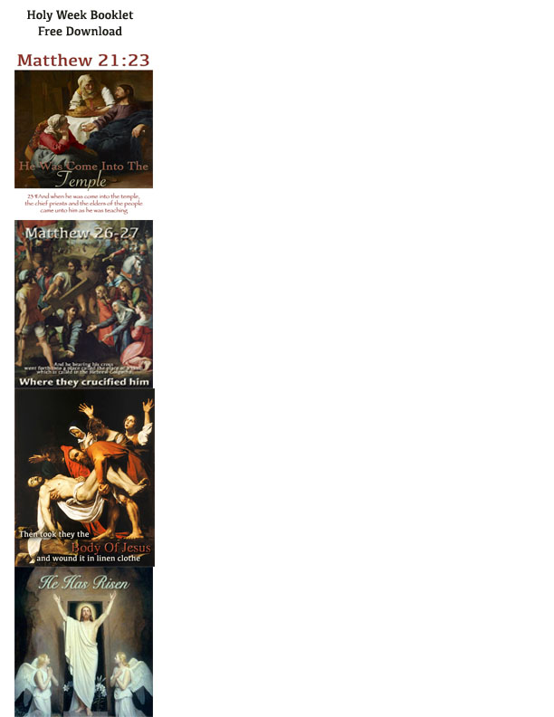 Holy week book free download