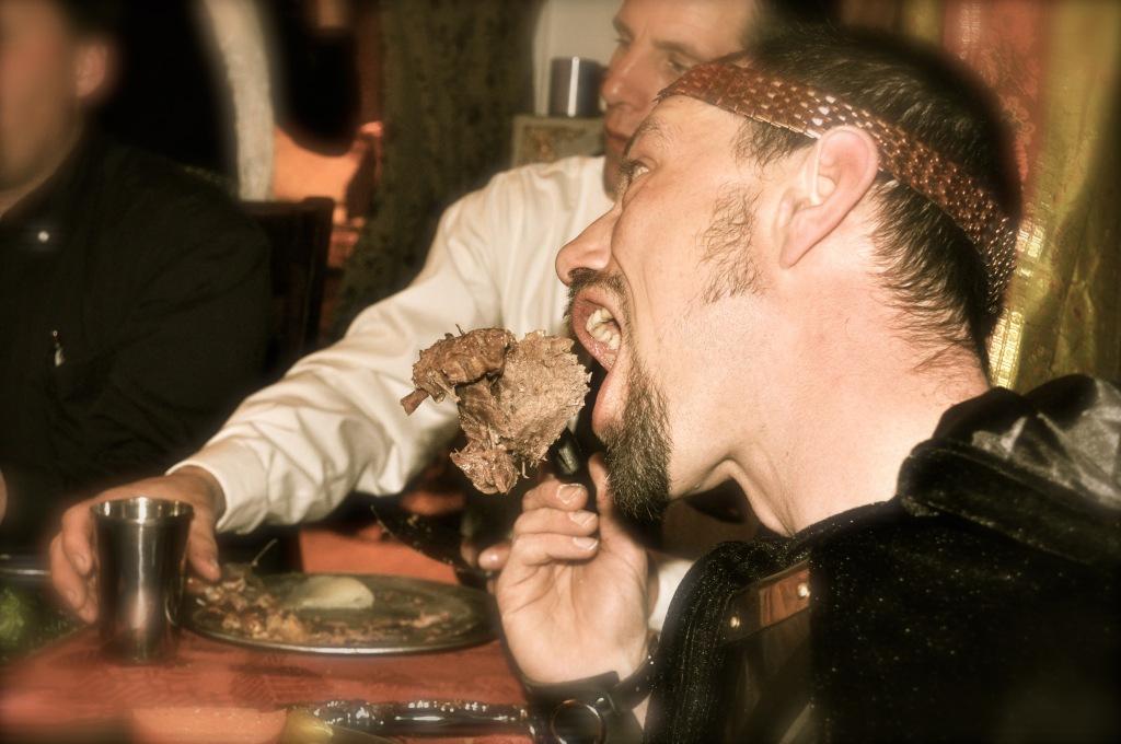 king eating knight