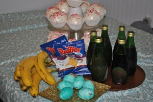 Fake Cupcakes, Jello Eggs, Jello Juice, Pre-sliced Banana's, Tricky Chips