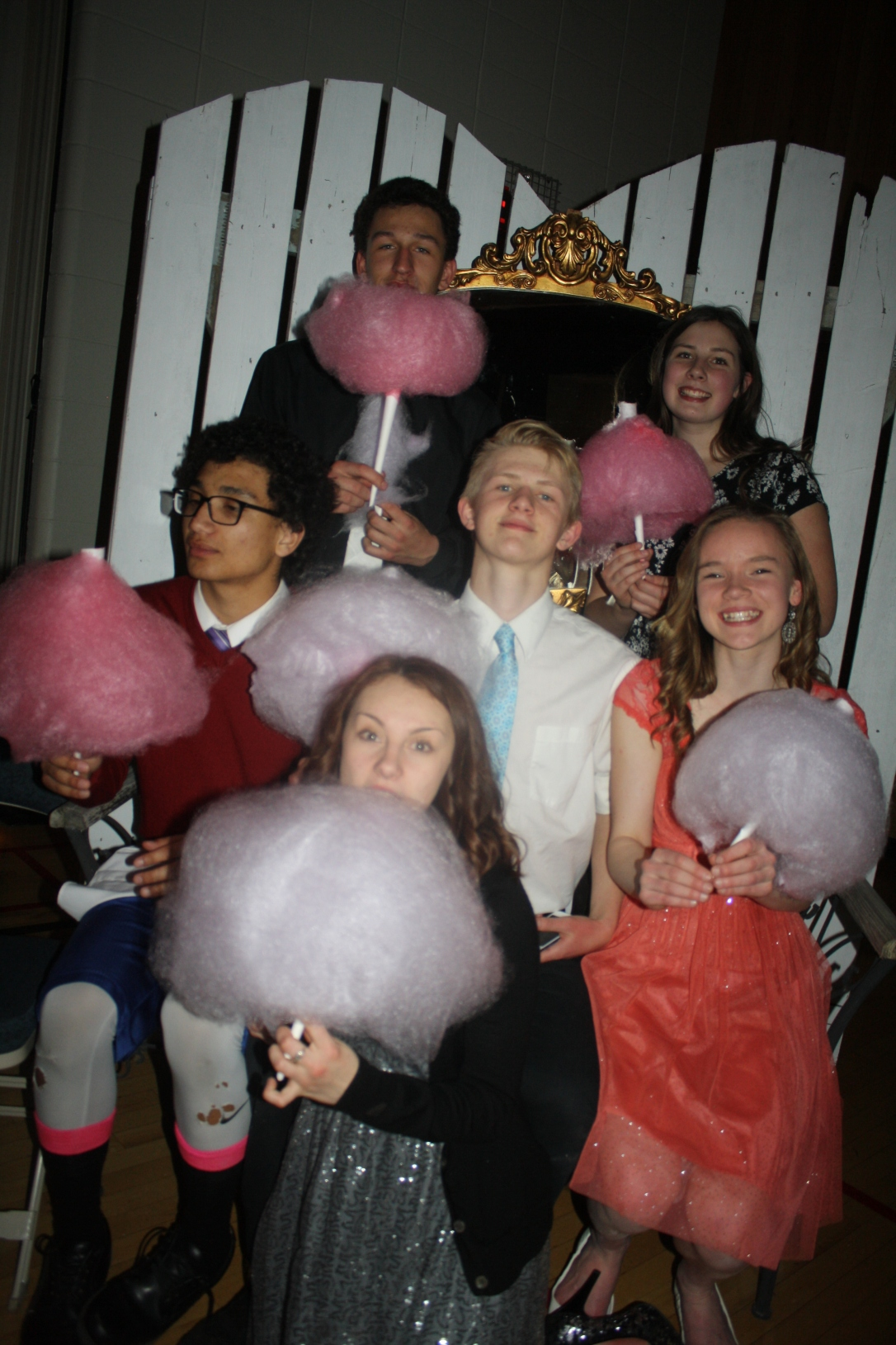 grad cotton candy and kids